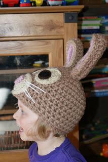 Darla's Bunny Hat Pattern. Oombawka Design Crochet.