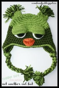 Not Another Owl Hat Pattern. Toddler Size. Free Pattern. Oombawka Design Crochet.