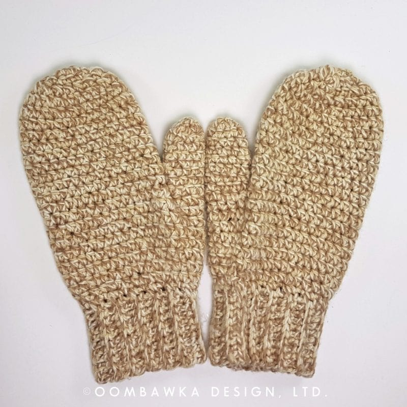 Daddy's Simply Easy Mittens by Oombawka Design