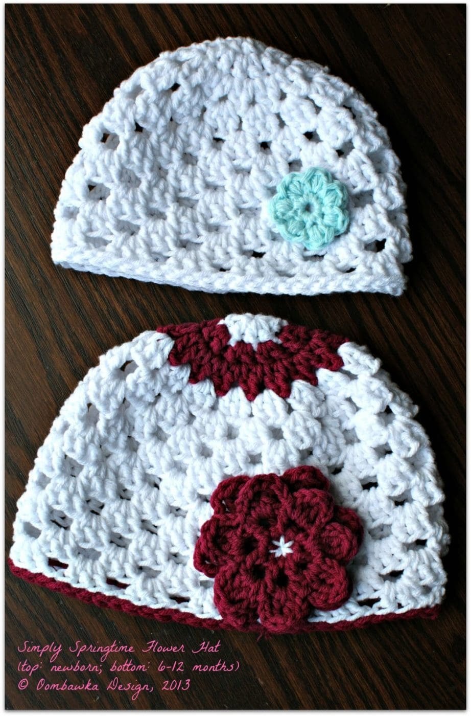 Free Crochet Pattern Hat Flower : Oombawka Design *Crochet*