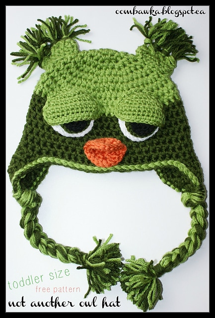 Not Another Owl Hat Free Toddler Crochet Pattern