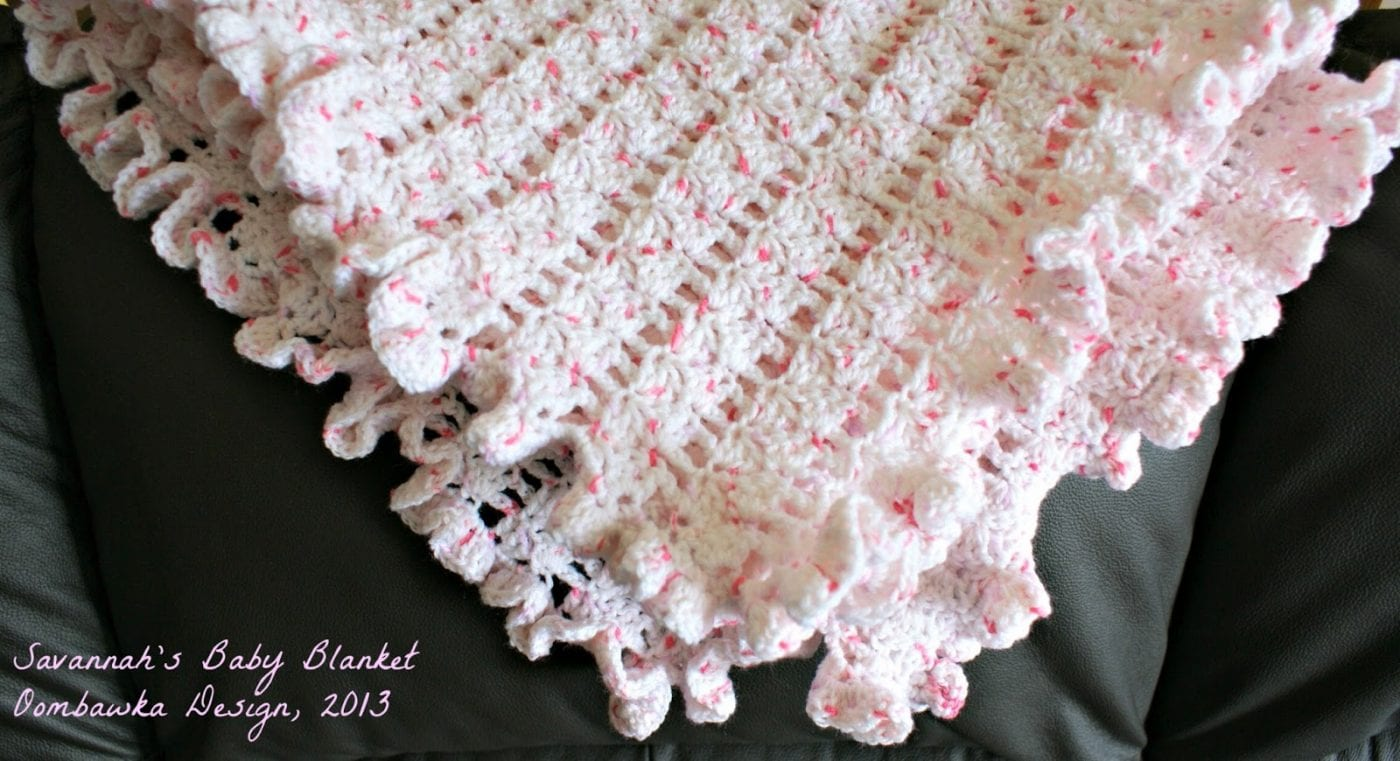 Crochet Patterns For Baby Blanket Edges : Savannahs Baby Blanket Oombawka Design Crochet