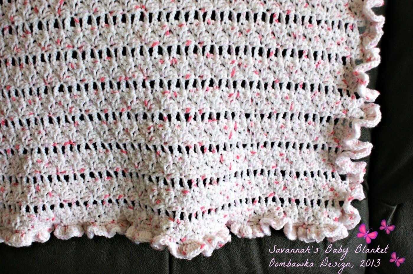 Savannah S Baby Blanket Pattern Oombawka Design Crochet