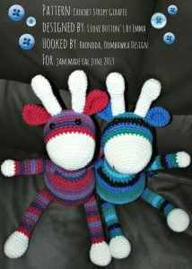 Crochet Stripy Giraffe Pattern