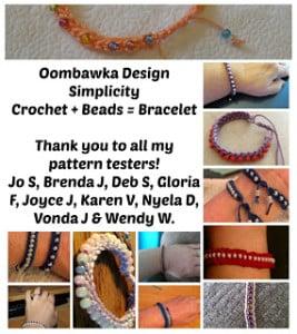 Simplicity Crochet Beaded Bracelet Pattern. Oombawka Design Crochet.