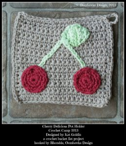 Cherry Delicious Pot Holder CBL Project