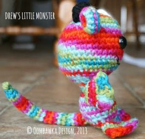 Drews Little Monster Pattern. Oombawka Design Crochet.