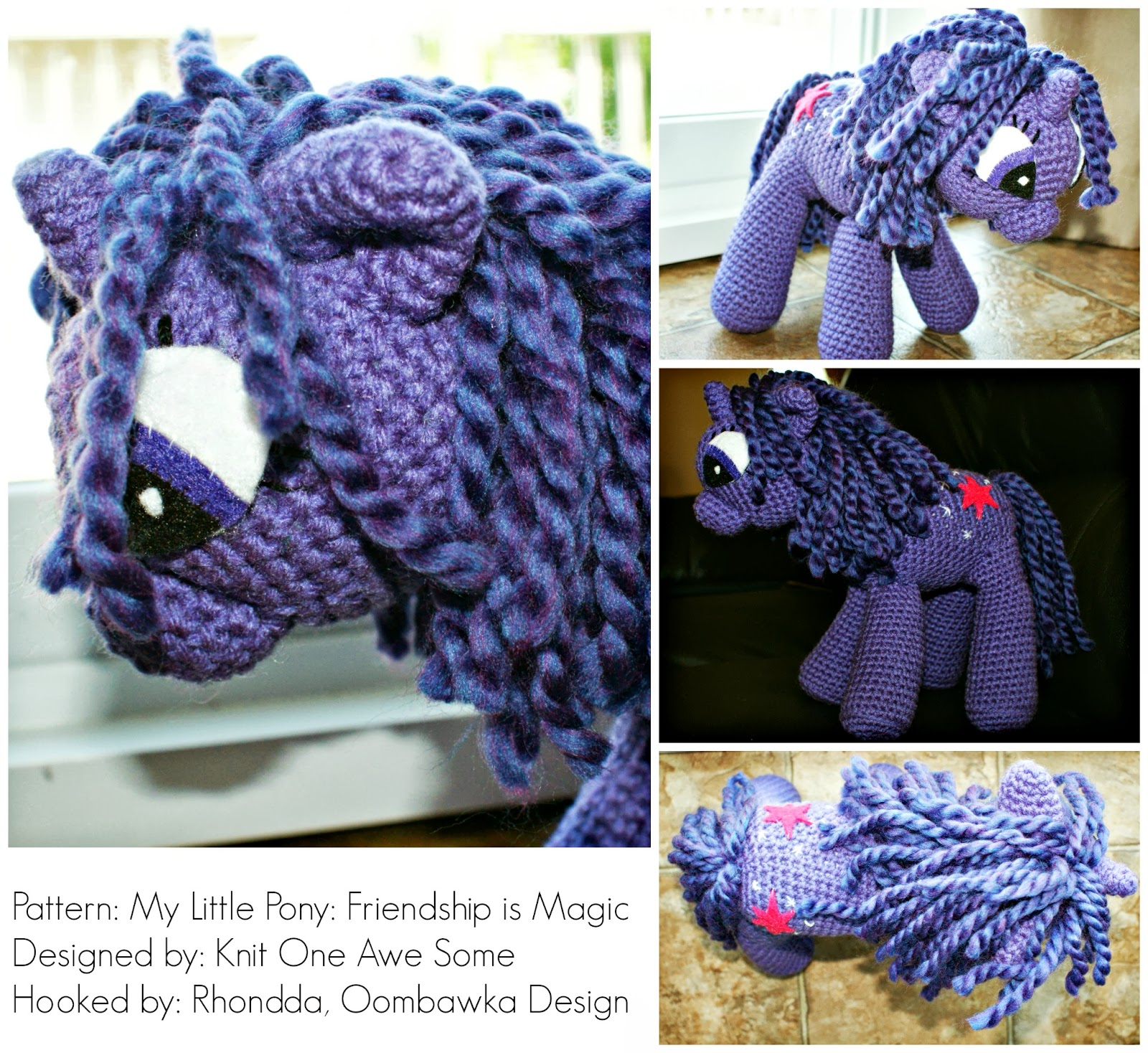 Wee My Little Pony Inspired Amigurumi Pattern ⋆ Crochet Kingdom | 1468x1600