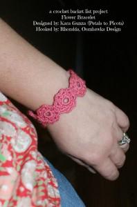 A Crochet Bucket List Project – Flower Bracelet
