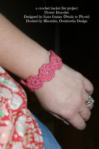 A Crochet Bucket List Project – Flower Bracelet