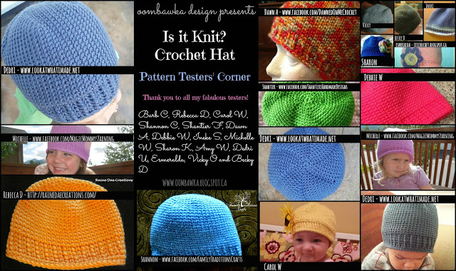 2 New Crochet Hat Patterns - oombawkadesigncrochet.com