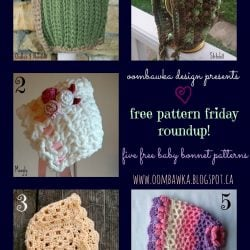 Free Patterns for Baby Bonnets - Friday Roundup Oombawka Design