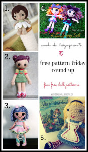 5 Adorable Doll Crochet Patterns. Free Pattern Roundup.