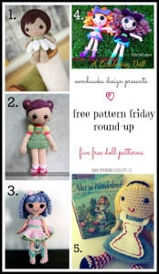 5 Adorable Doll Crochet Patterns. Free Pattern Roundup. Oombawka Design Crochet.