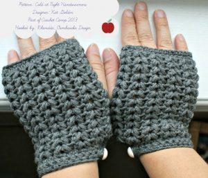 Cold at Night Handwarmers. Slugs on the Refrigerator. Oombawka Design Crochet.