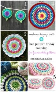 Crochet Mandalas – Free Pattern Friday Round Up!