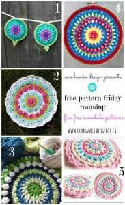 Crochet Mandalas - Free Pattern Friday Roundup - Oombawka Design Crochet