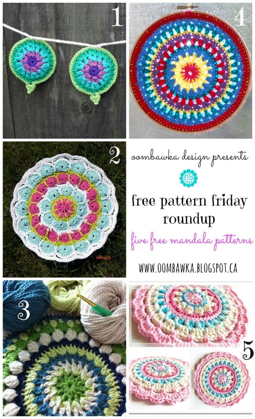 Crochet Mandalas - Free Pattern Friday Round Up!
