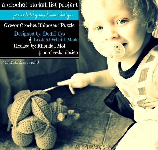 Crochet Bucket List Project - Amamani - Gregor the Rhinosaur