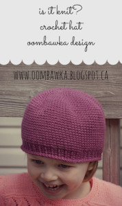 Is It Knit Crochet Hat Pattern. Oombawka Design Crochet.