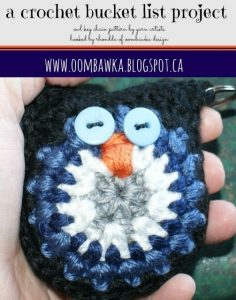 Owl Key Chain Pattern. Crochet Bucket List Project. Oombawka Design.