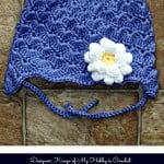 A Crochet Bucket List Project – Shell Baby Hat with Earflaps & Crochet Dahlia Flower