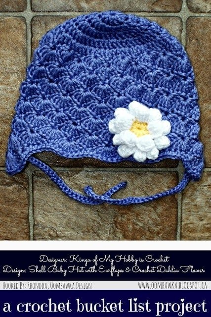 Shell Baby Hat - Free Pattern - Crochet Bucket List Project as seen on oombawkadesigncrochet.com