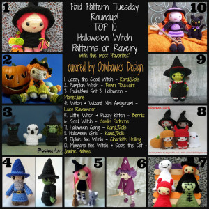 Top 10 Witches Crochet Patterns. Halloween Crochet. Premium Crochet Pattern Roundup. Oombawka Design Crochet.
