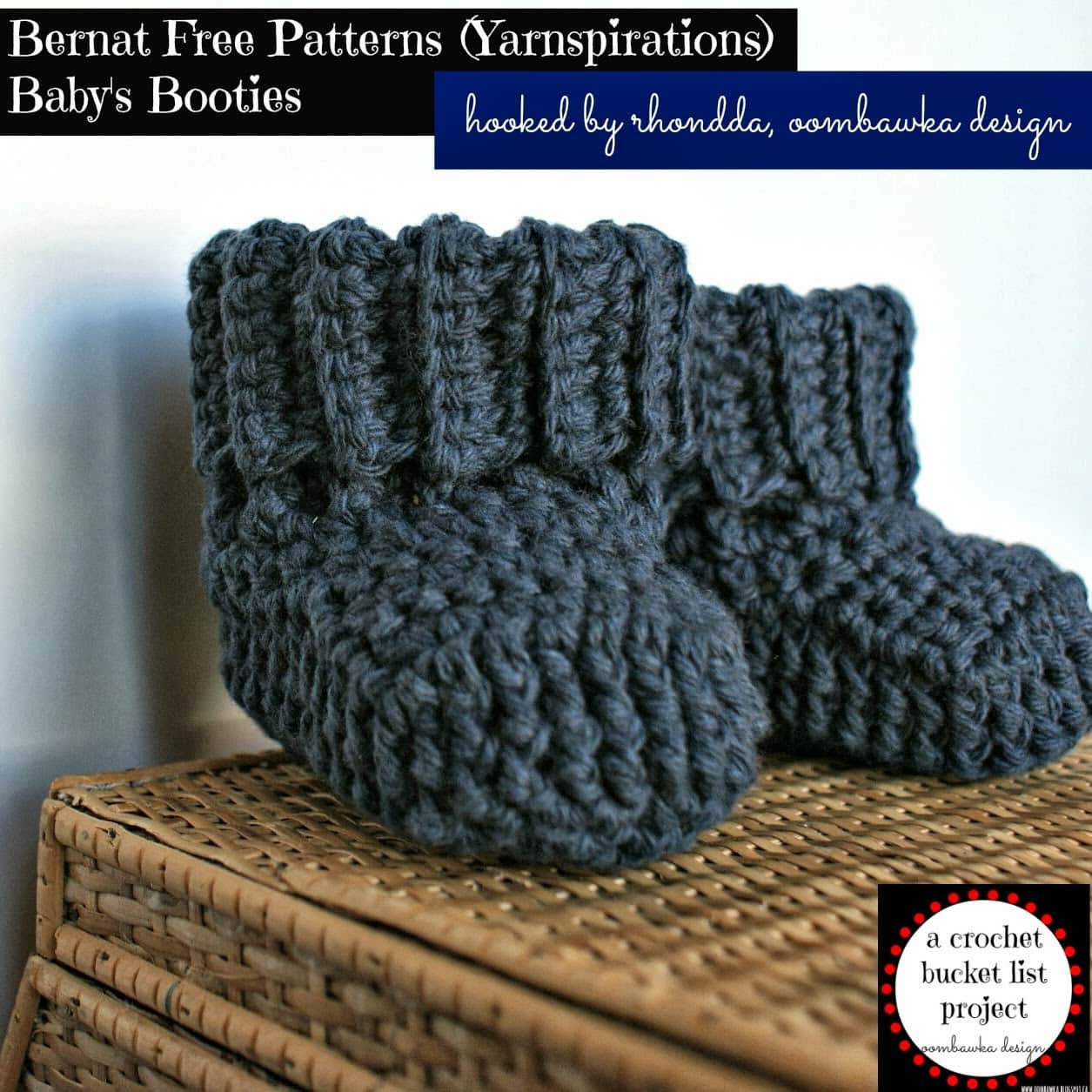 Bernat Baby Booties - FREE Crochet Pattern - a CBL Project ...