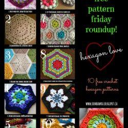 10 Hexagon Crochet Patterns. Free Crochet Pattern Roundup. Oombawka Design.