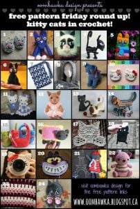 24 Cat Crochet Patterns. Free Pattern Roundup. Oombawka Design Crochet.