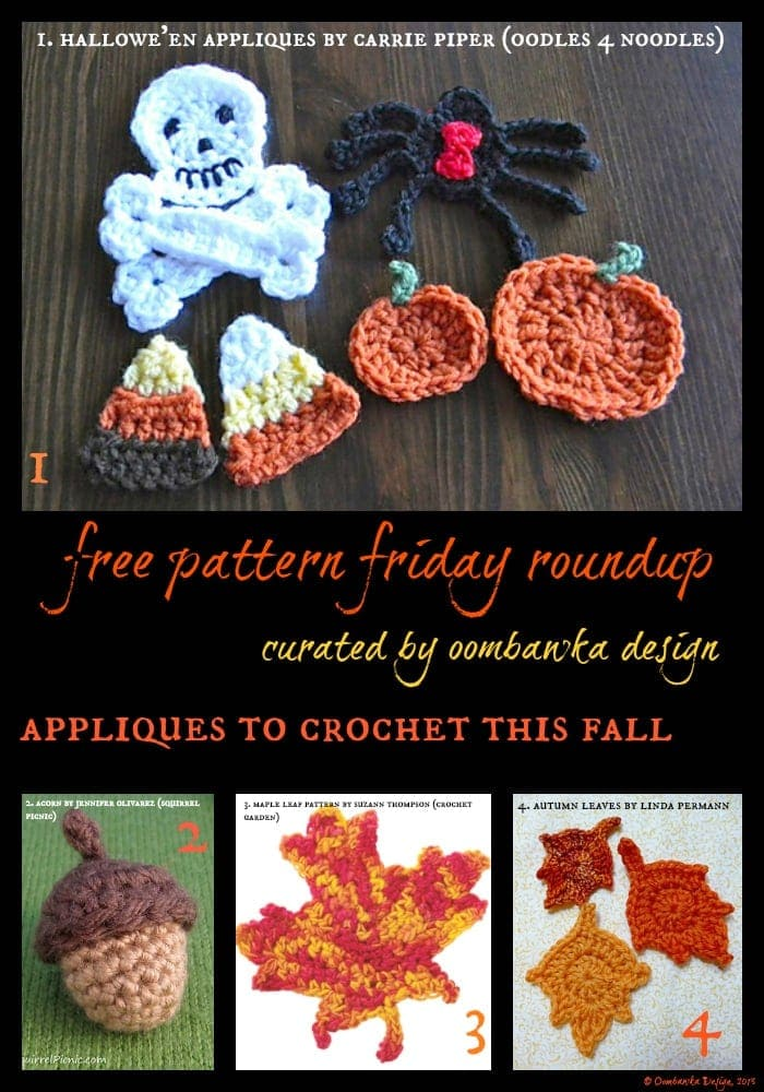 Free Fall Embellishments to Crochet - Oombawka Design Crochet