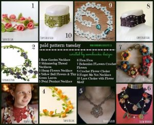 10 Stunning Flower Necklace Crochet Patterns. Oombawka Design Crochet Roundup.