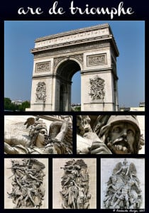Arc de triomphe. Paris France. 2015. Oombawka Design.