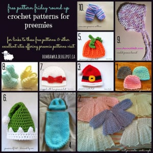 10 Preemie Baby Crochet Patterns. Free Pattern Roundup. Oombawka Design Crochet.