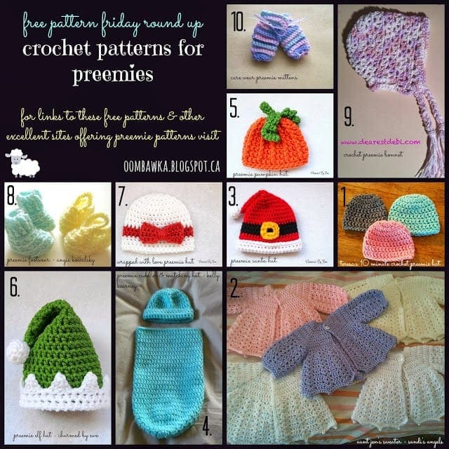 Free Crochet Patterns For Preemies