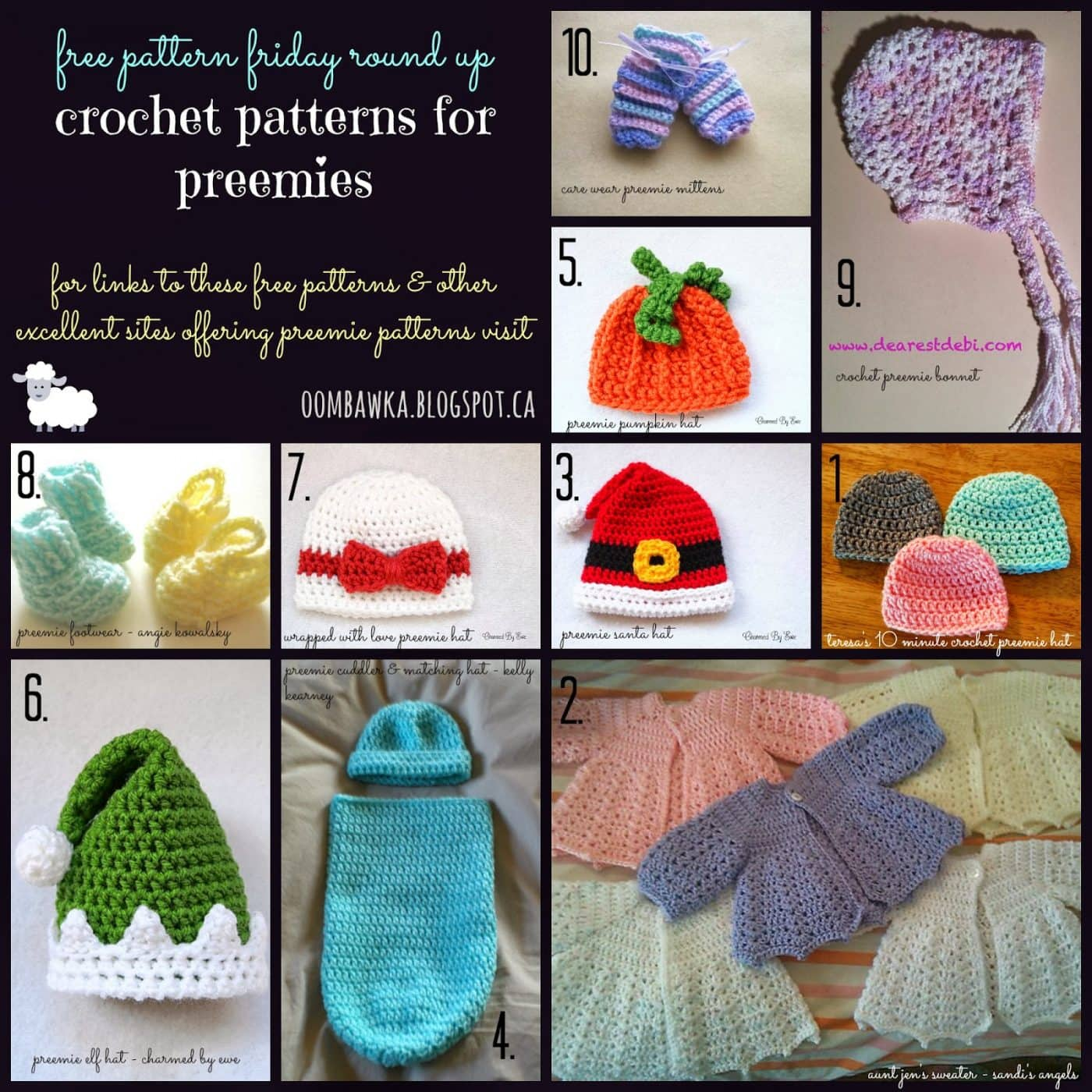 Free Crochet Pattern Preemie Blanket : Free Crochet Patterns for Preemies. Oombawka Design Crochet