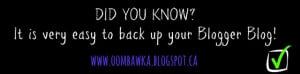 How to Back Up Your Blogger Blog. Oombawka Design.
