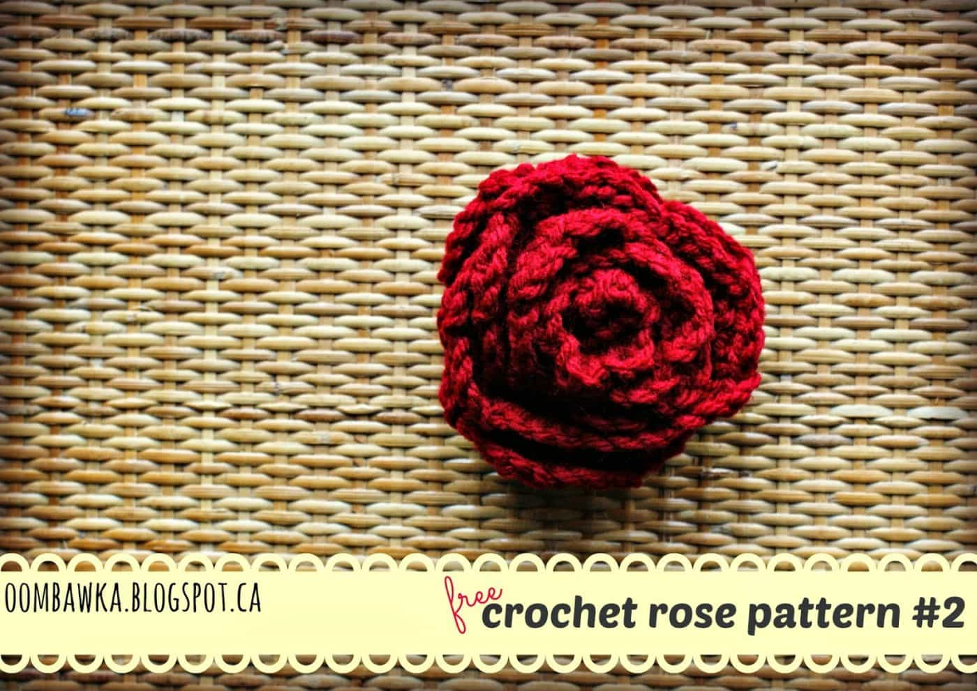 Free Crochet Pattern - Rose Brooch with Leaves Oombawka ...
