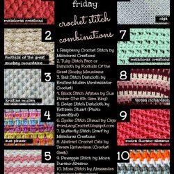 10 Trendy Stitch Pattern Combinations. Crochet Pattern Roundup. Oombawka Design.