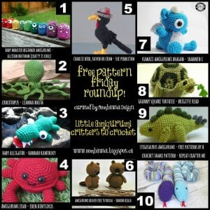 Little Amigurumi Critters to Crochet - A Free Crochet Pattern Collection by Oombawka Design