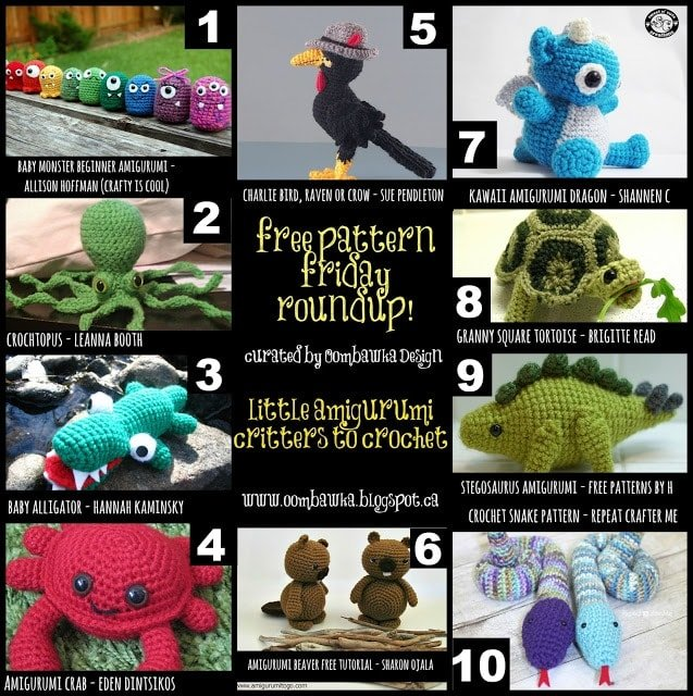 Little Amigurumi Critters - Free Pattern Friday RoundUp!