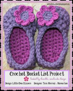 Darla's Winter Slippers – Little Oma Slippers – Mamachee – Crochet Bucket List Project