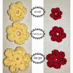 Free Crochet Pattern for Flower Embellishments - in multiple sizes