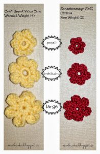 Simple Stackable Flowers in 3 Sizes. Free Patterns. Oombawka Design Crochet.