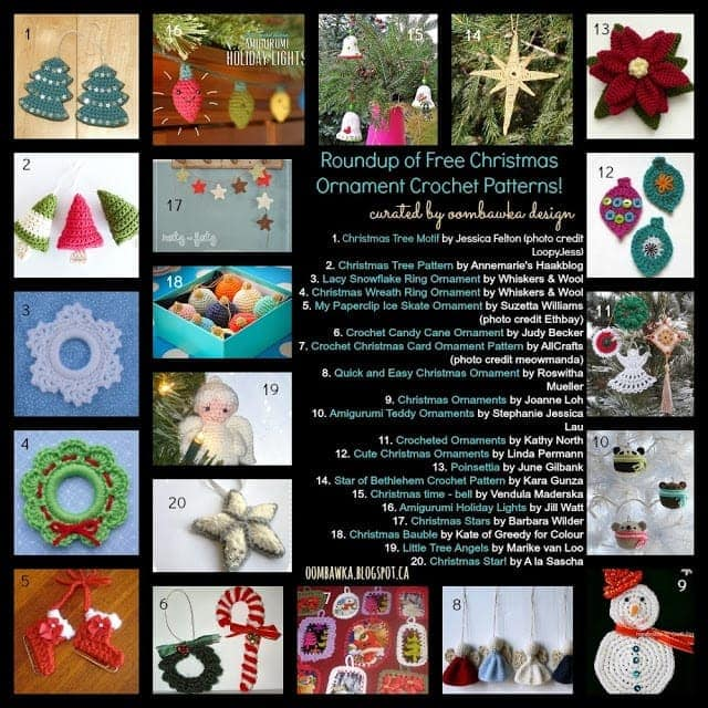 20 Free Crochet Christmas Ornament Patterns