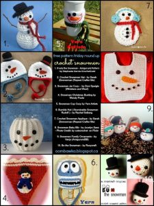10 Crochet Snowman Patterns. Free Pattern Roundup. Oombawka Design Crochet.
