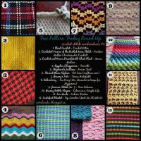 Crochet Stitch Combinations #2 – Free Pattern Friday Round Up!