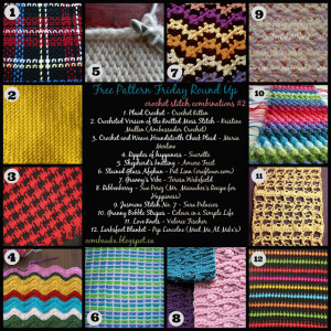 12 Gorgeous Crochet Stitch Combinations. Free Pattern Roundup. Oombawka Design.