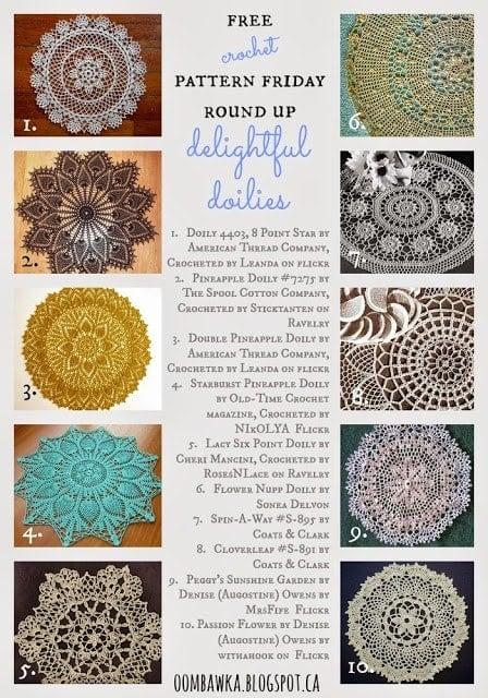 delightful doilies crochet roundup oombawka design